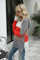 Autumn and Winter New Spliced Long Sleeve Casual Hooded Sweater