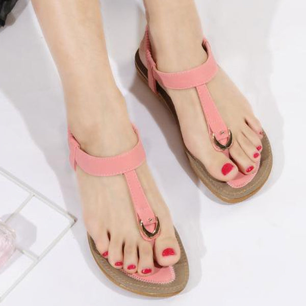 Women Flat Heel Summer Casual Soft Bottom Slippers Sandals
