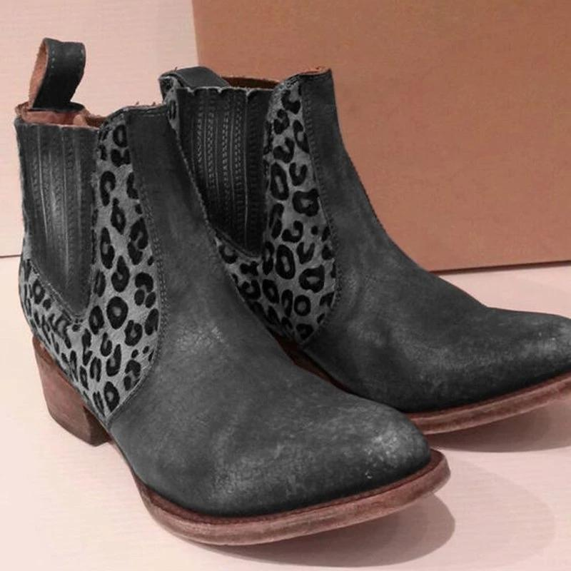 Fashion Mid-Calf Block Heel Boots