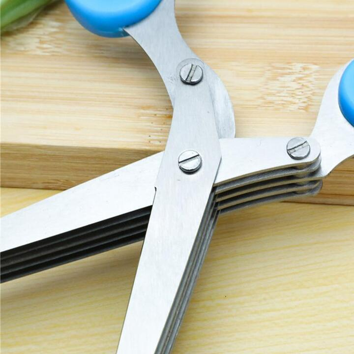 3/5 Layers Stainless Steel Kitchen Chopped Scallions Scissors