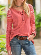 Cotton Casual Long Sleeve Tops