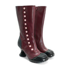 Cute Round Toe Zipper Boots