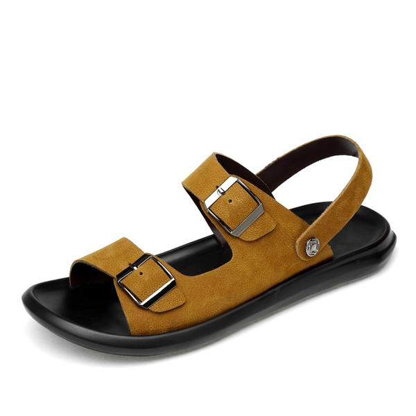 Men's Genuine Leather Sandals Summer Big Size Slippers Sandal Shoes