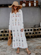 Floral Fringed Boho Summer Dress