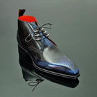 Men's Hand-painted Leather Lace Up Boots