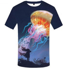 Men's 3D Punk Rock Vintage T-shirts Tee Tops