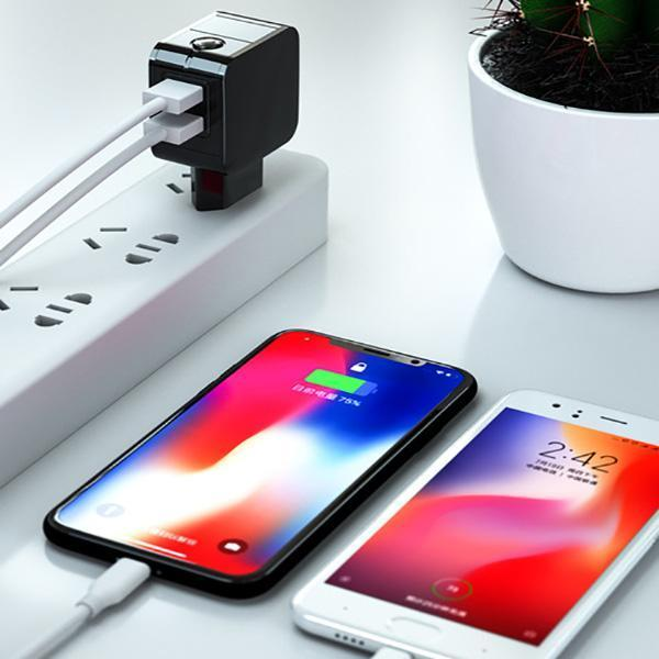 Intelligent Dual Port USB Wall Charger