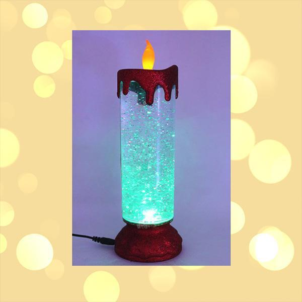 LED Colorful Gradient Snowflake Candle Light