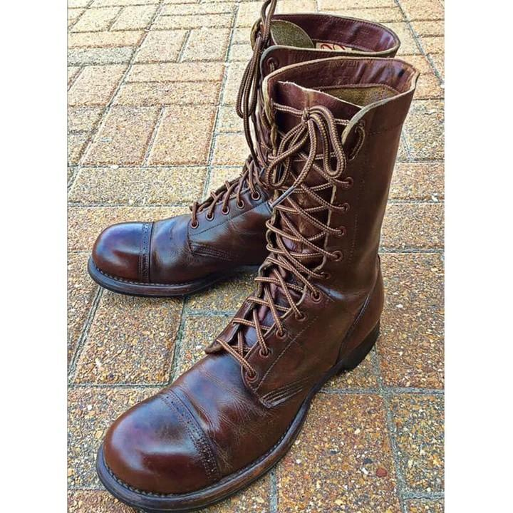 Men's Vintage Handcrafted Lace Up High Boots