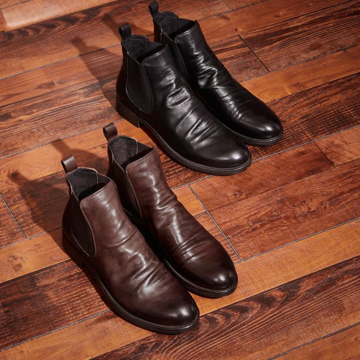 Men's Handmade Genuine Leather Chelsea Boots
