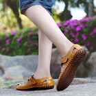 Men's Cow Leather Sandals Breathable Casual Footwear Walking Sandal Shoes