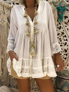 New Plus Size Lace Blouses Shirts