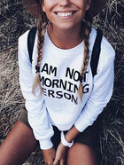 Letter Print Long Sleeves T-Shirts Tops
