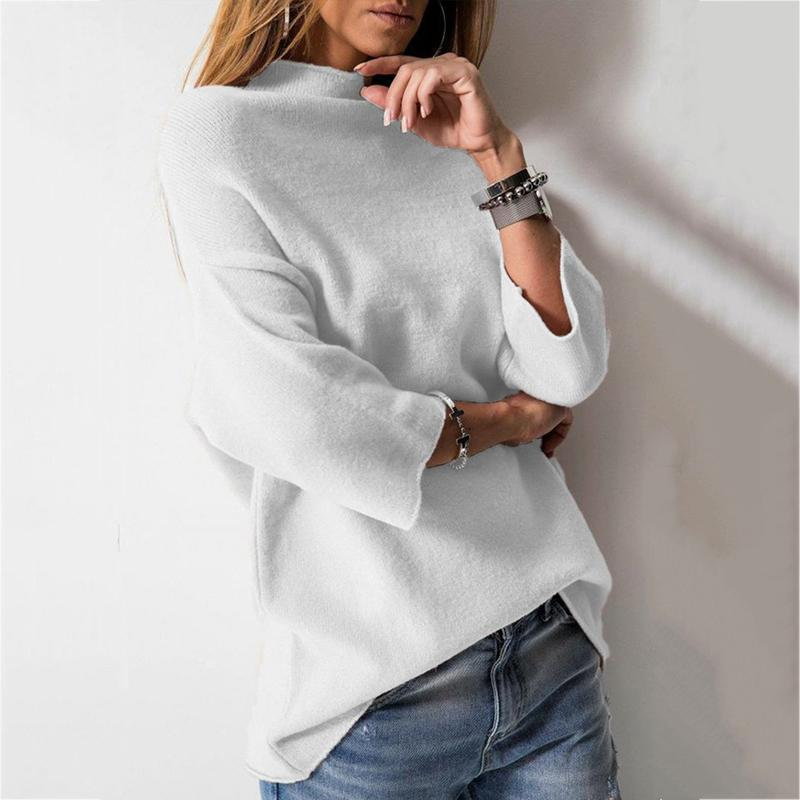 Casual Solid Color Boat Neck Shirt
