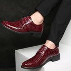 Crocodile Pattern Leather Men's Wedding Shoes Men Business Fashion Formal Shoes