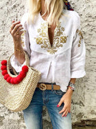3 Colors V-neck Blouses&shirts Tops