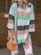 Loose Striped Blouses&shirts Tops