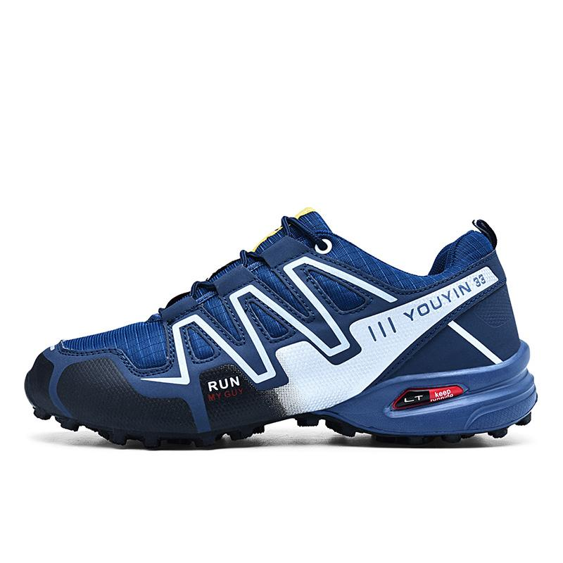 2019 new large size outdoor mountaineering shoes men's shoes breathable shock absorption sports hiki