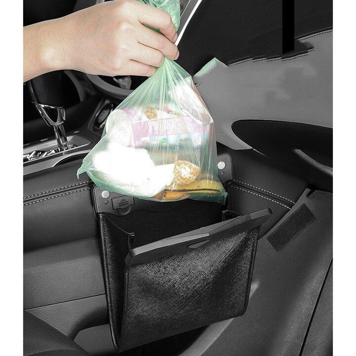 High Capacity Car Hanging Folding Trash Can Magnetic Garbage Bag