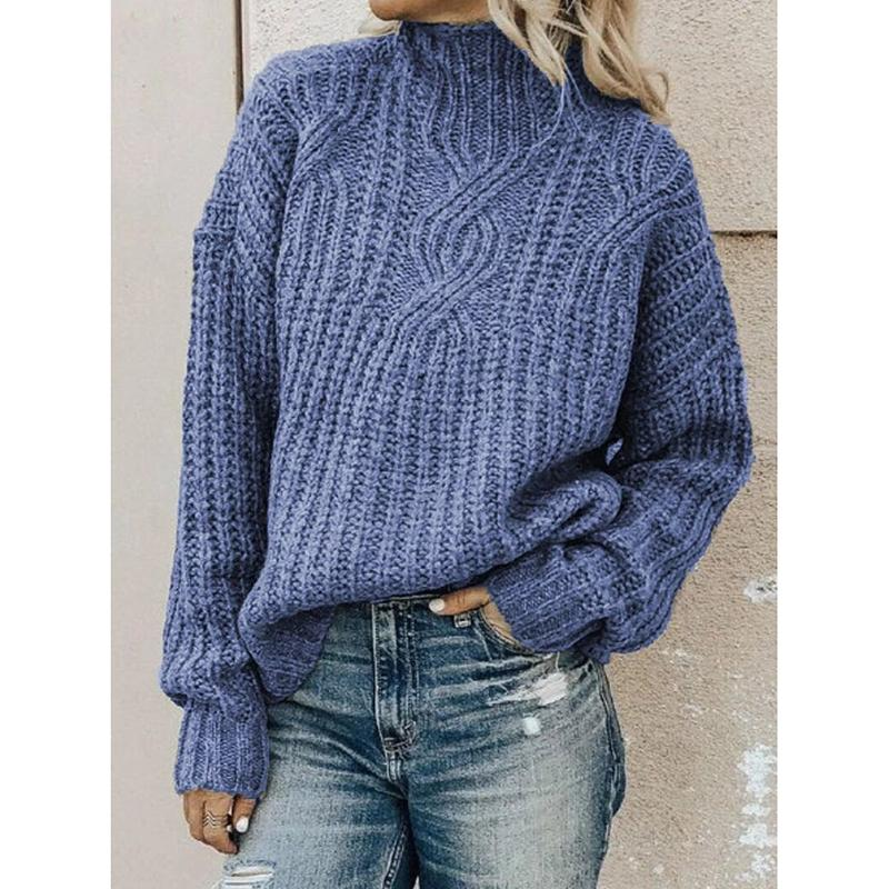 Casual Plus Size Turtleneck Sweater Pullover