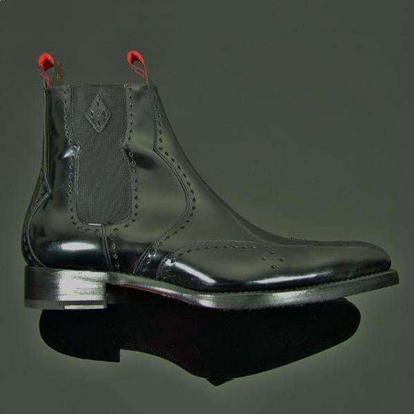 Men's Carved Colorful Gentlemen Elegant Chelsea Boots