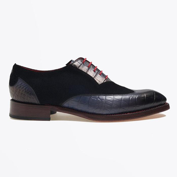 Two-Tone Suede Brogues