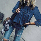 Womens Summer Hollow Out Bohemian Casual 3/4 Sleeve Solid Shirt Plus Size Tunic Tops