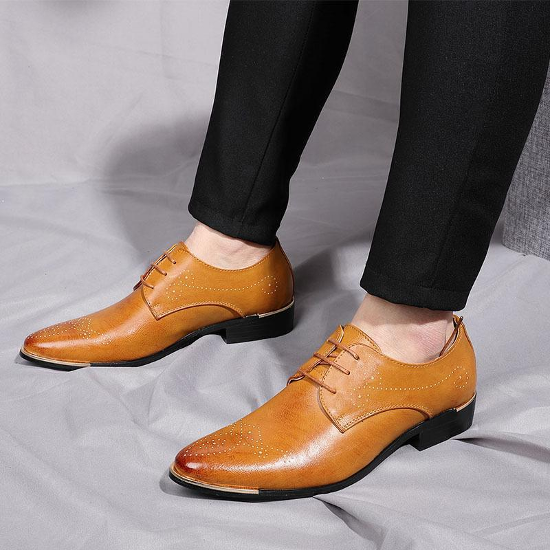 Business Formal Suit Man Leather Shoes