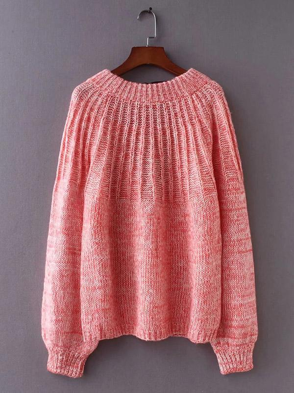 Solid Color Backless Hollow Bandage Sweater Tops