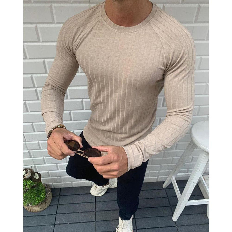 Stripe Long Sleeve Casual Shirts