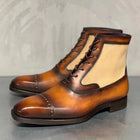 Men's Fashion Leather Gentlemen Martin Boots