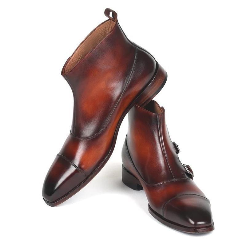 Full grain Aniline-dyed Cowhide Triple Monkstrap Boots