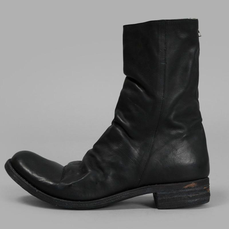 Men's Retro Handmade Leather Cowboy Boots