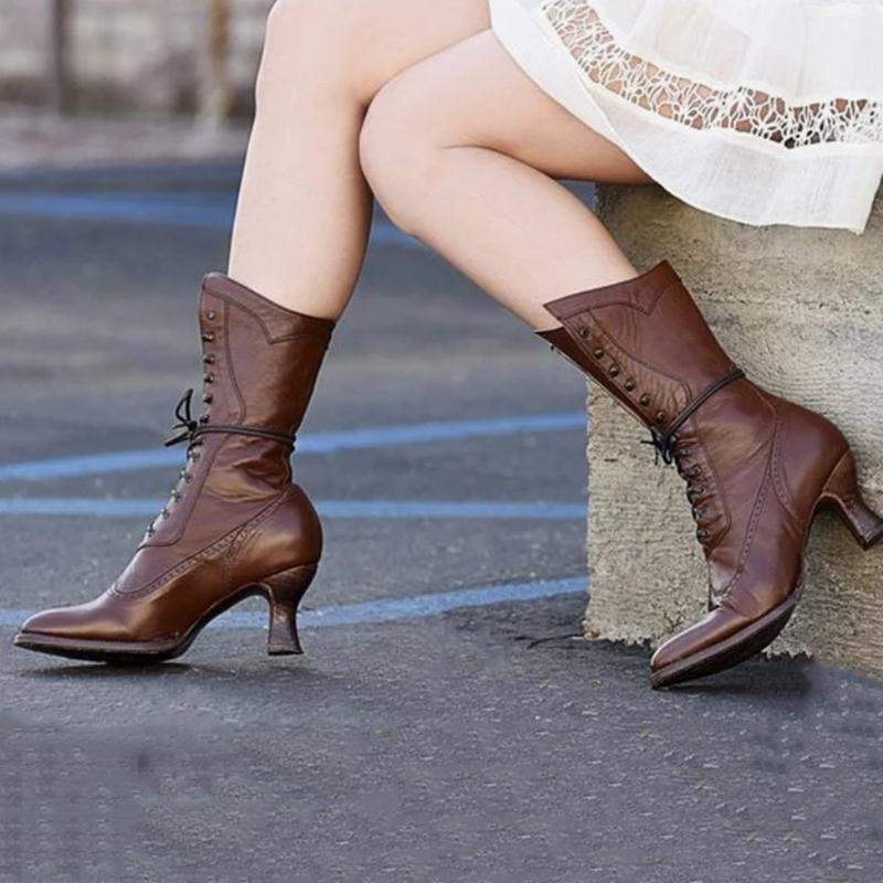 Elegant Ruched Low Heel All Season Boots
