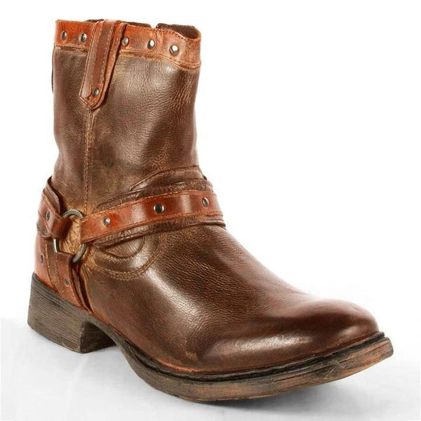 Men's Original Design Buckle Ankle Boots