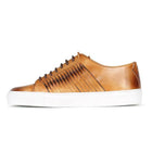 Light Brown Antiqued  Leather Trainer
