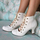 Women Fashion Lace Up High Heel Shoes