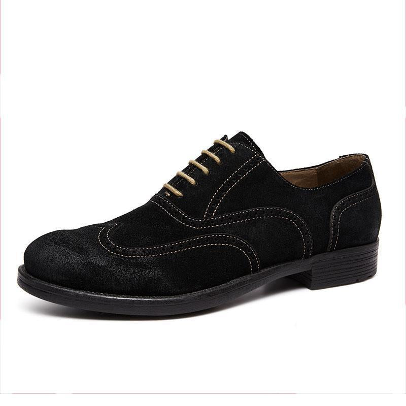 Men's Business Suede Brogue Leather Shoes