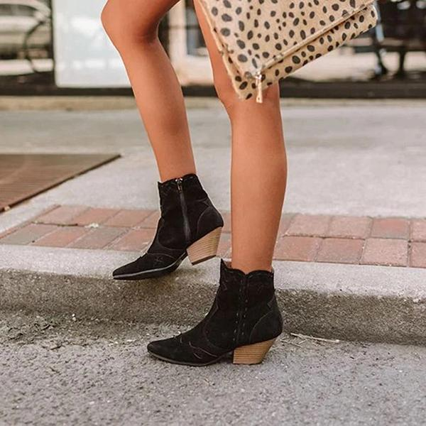 Women's Fashion Rough Edging Ankle Boots
