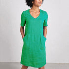 Temperament Short Sleeve V-Neck Dress
