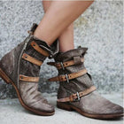 Vintage Casual Flat Heel Boots