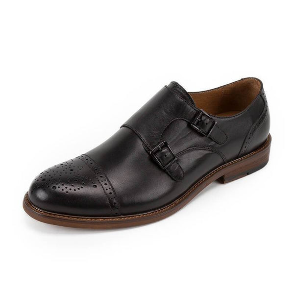 Men's Casual Double Buckle Monk Shoes