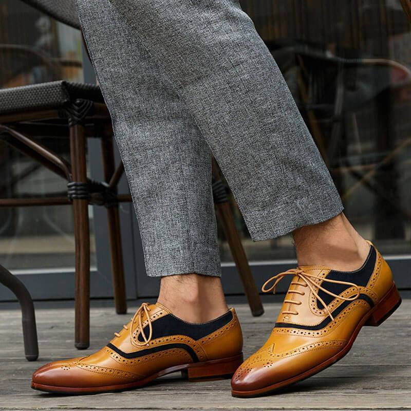 Men's Business Brogue Leather Shoes