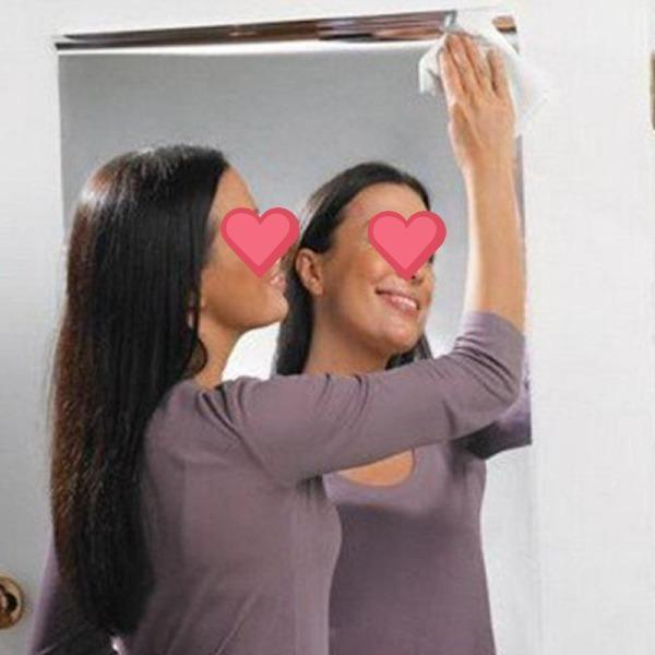 DIY 3D Mirror Wall Sticker Acrylic Mirror
