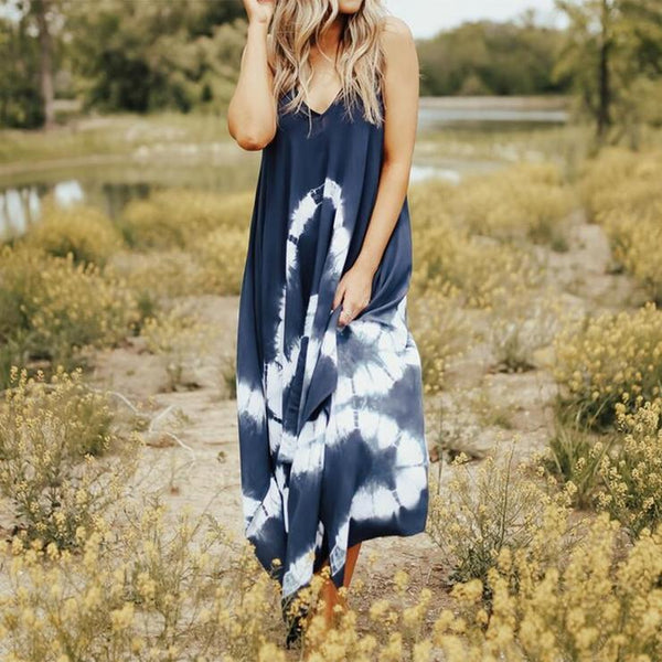 Glamorous Tie Dye Sling Fairy Maxi Dress