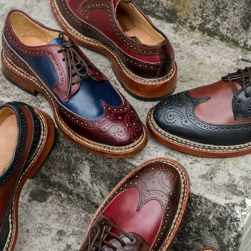 Handmade Genuine Calf Leather Oxford Shoes