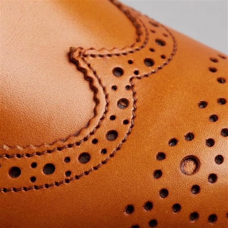 Classic Genuine Leather Brogues Derby Shoes