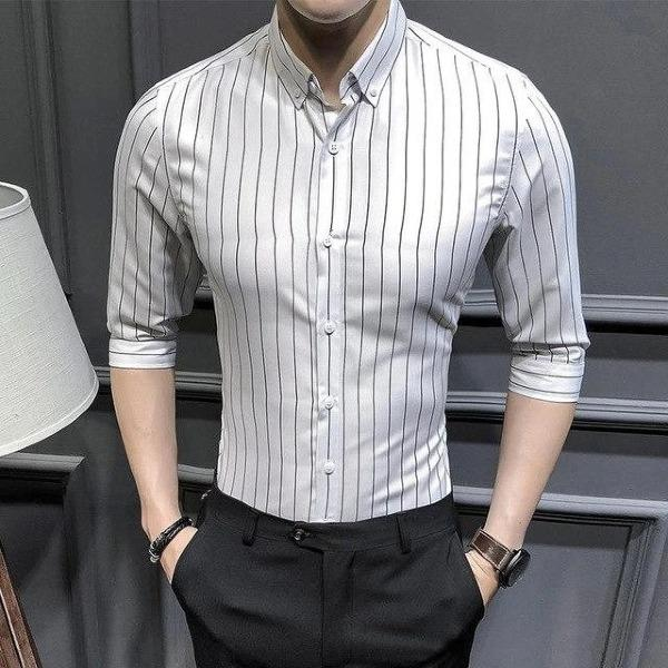 Slim Fit Striped Fashion Men's Casual Shirts