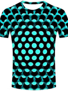 Kids Toddler Boys' Active Basic Geometric Print 3D Print Short Sleeve Tee Yellow