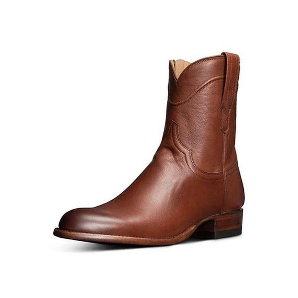 Men's Summer Daily Boots PU Light Brown / Dark Brown / Black